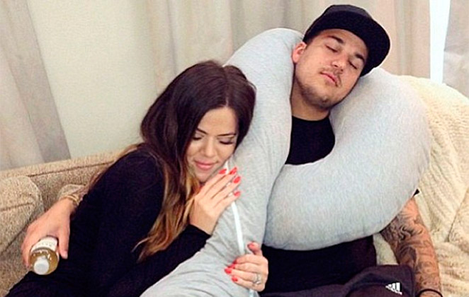 Rob Kardashian conta com o apoio da irmã depois de escândalo