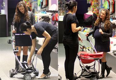 Bianca Castanho comprando carrinho para a filha
