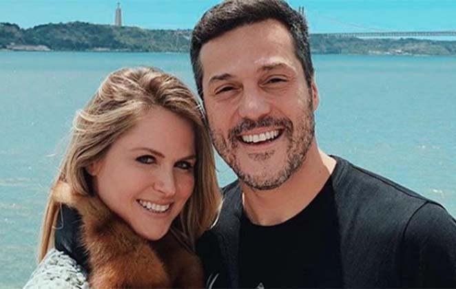 Susana Werner e Julio Cesar na praia