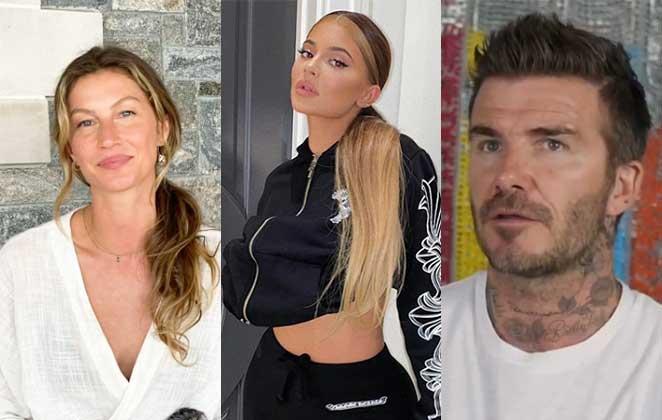 Gisele Bundchen, Kylie Jenner e David Beckham