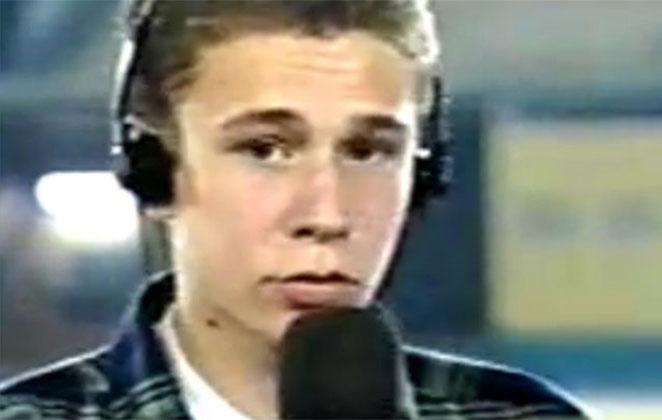 Tiago Leifert quando jovem