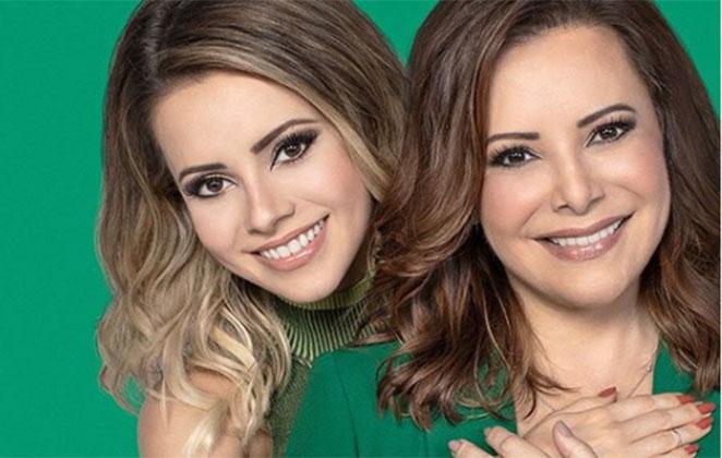 Sandy e sua mãe Noely