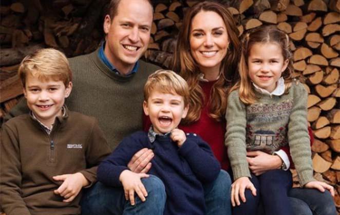 Kate e William com os filhos