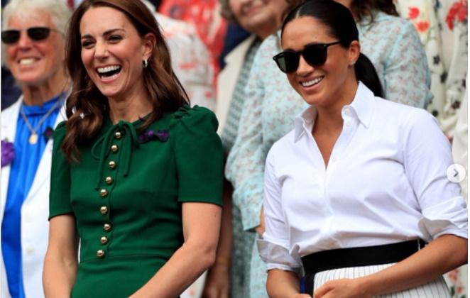 Kate Middleton e Meghan Markle juntas em evento