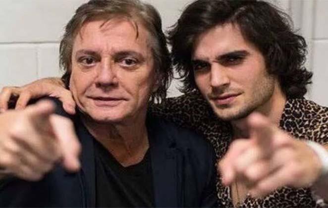 Fiuk com seu pai, Fábio Jr.
