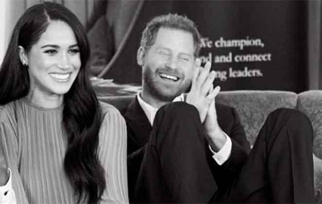 Meghan Markle e Príncipe Harry sorridentes