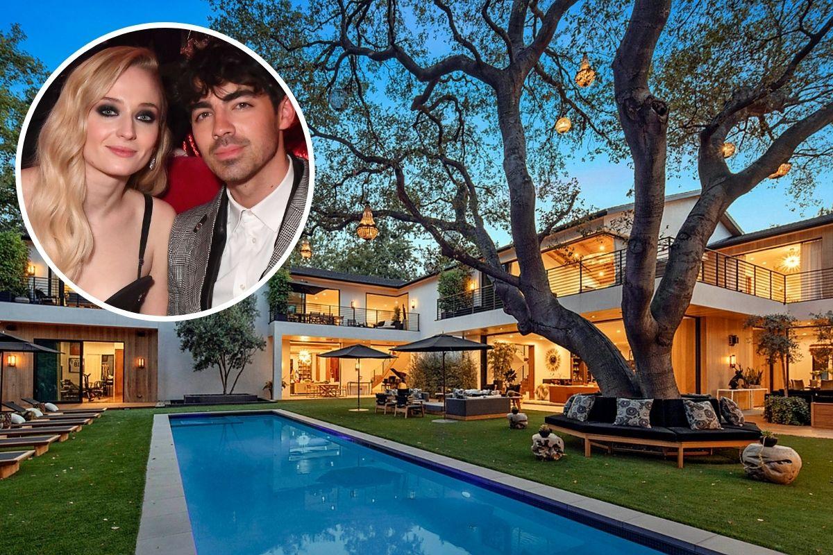 A mansão de Joe Jonas e Sophie Turner em Encino, Califórnia