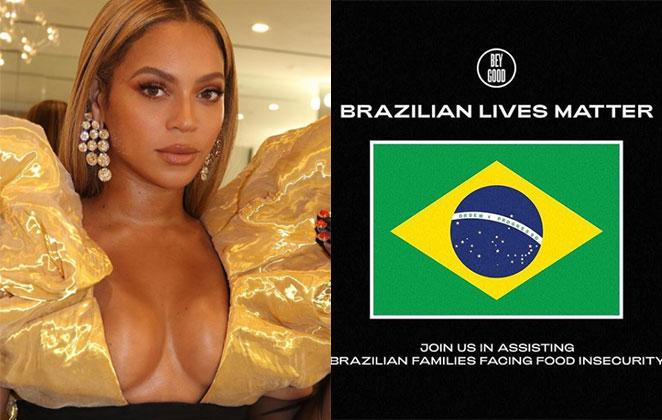 Post de campanha contra a fome da instituição de Beyoncé