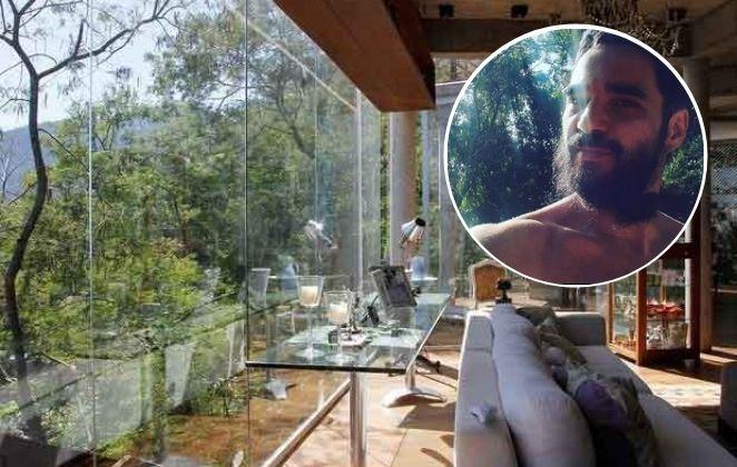 Caio Blat aluga casa na árvore rodeada de muito verde