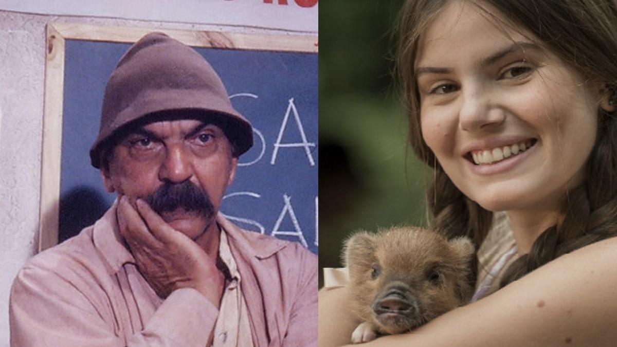 Fotomontagem Lima Duarte e Camila Queiroz