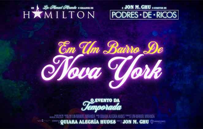 Chamada do musical 'Em Um Bairro de Nova York'