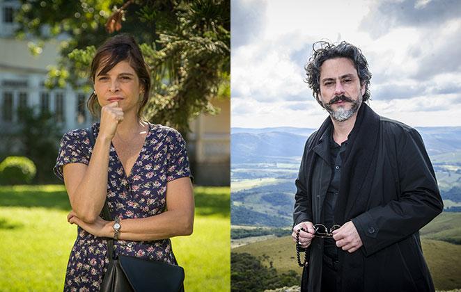 Drica Moraes e Alexandre Nero em cena de Império, novela da TV Globo