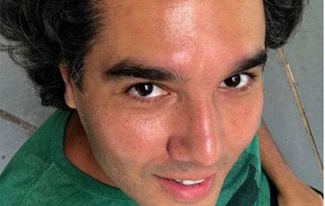 Selfie de Fernando Sampaio de camiseta verde