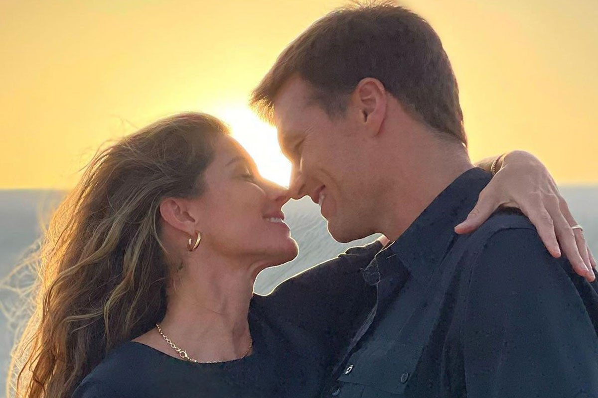 Retrato Gisele Bünchen e Tom Brady