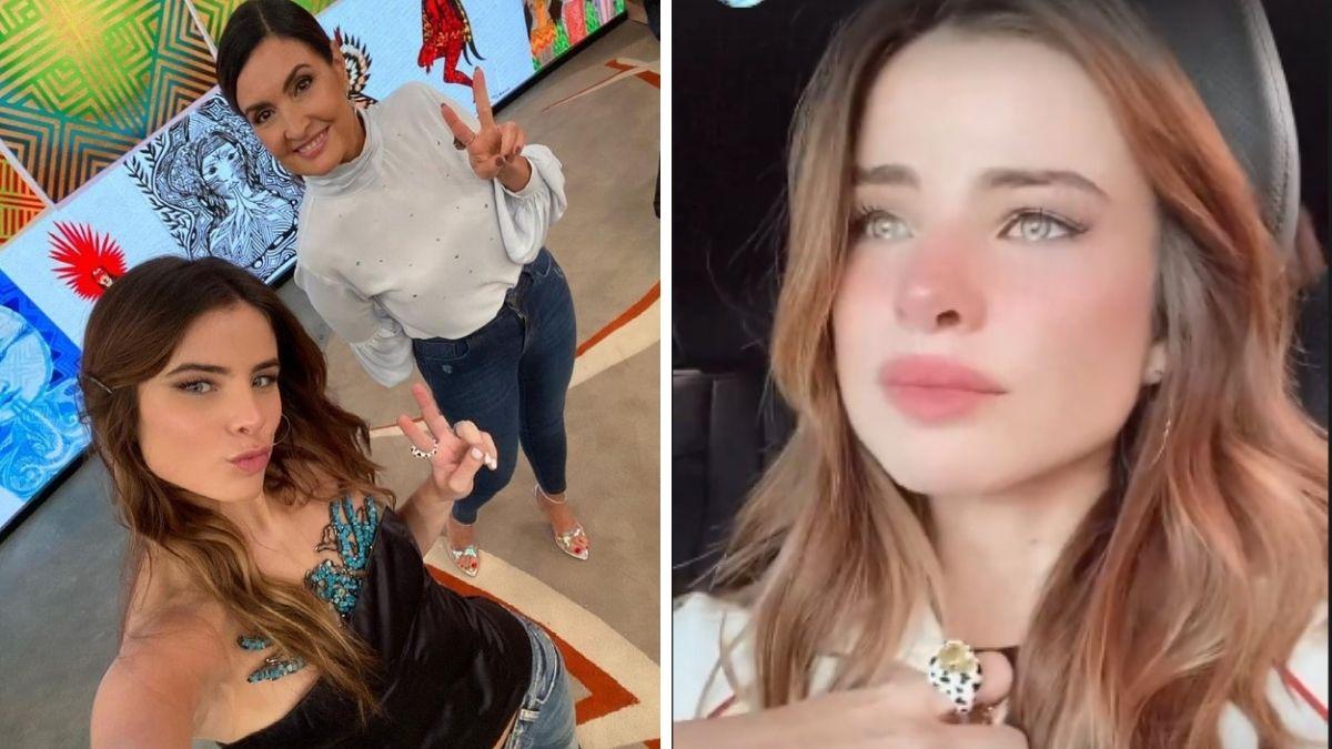 Giulia Be posou com Fátima Bernardes, mas chorou após ser criticada na internet
