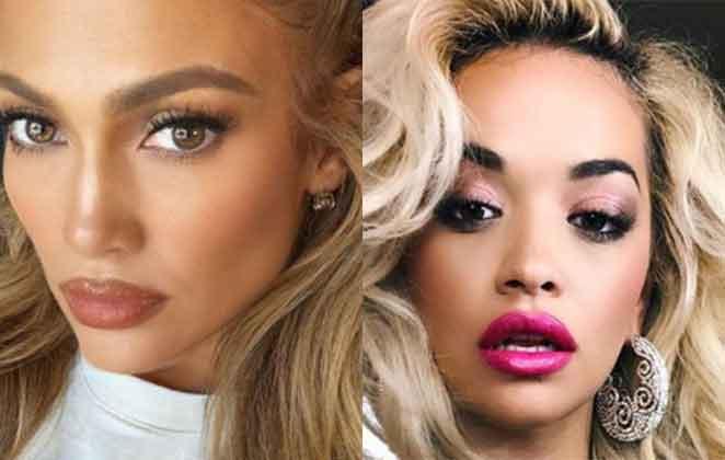 Jennifer Lopez e Rita Ora olhar sensual