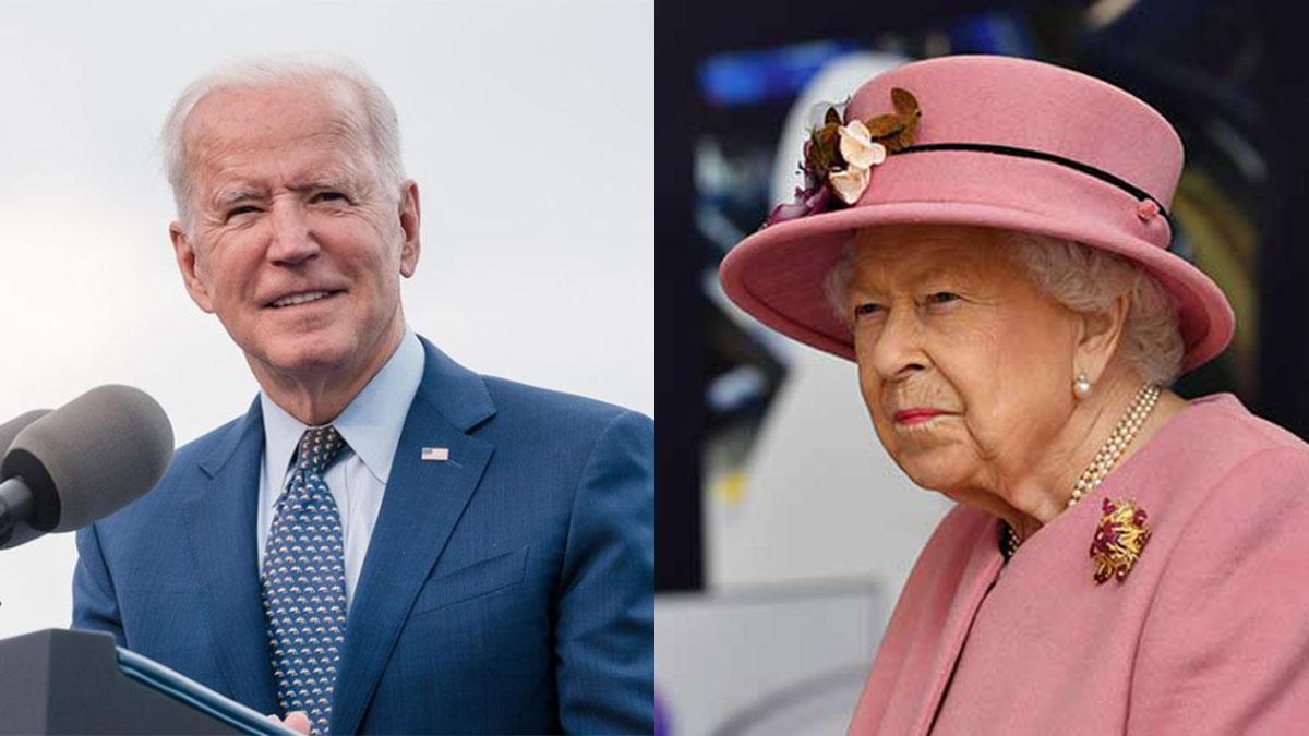 Joe Biden e Rainha Elizabeth II