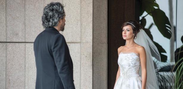 José Alfredo com a filha, Maria Clara, abandonada no dia do casamento