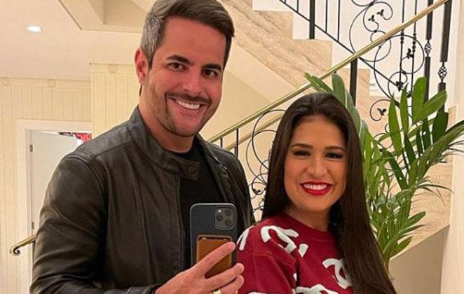 Kaká Diniz e Simone Mendes em selfie
