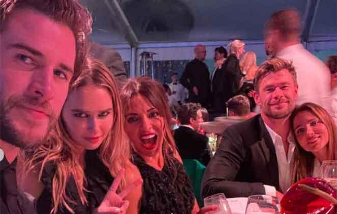 Liam Hemsworth confirma namoro com Gabriella Brooks com foto em jantar