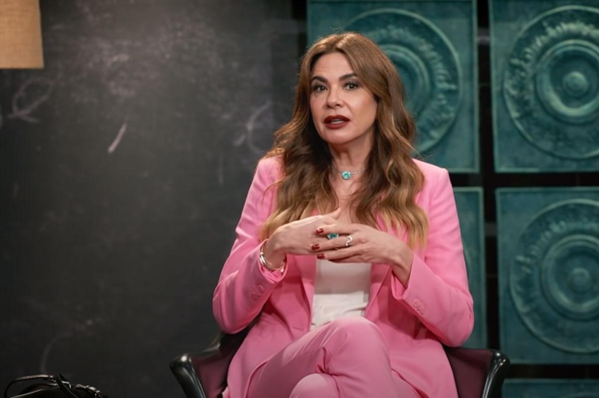 Retrato de Luciana Gimenez no programa Que História É Essa, Porchat?