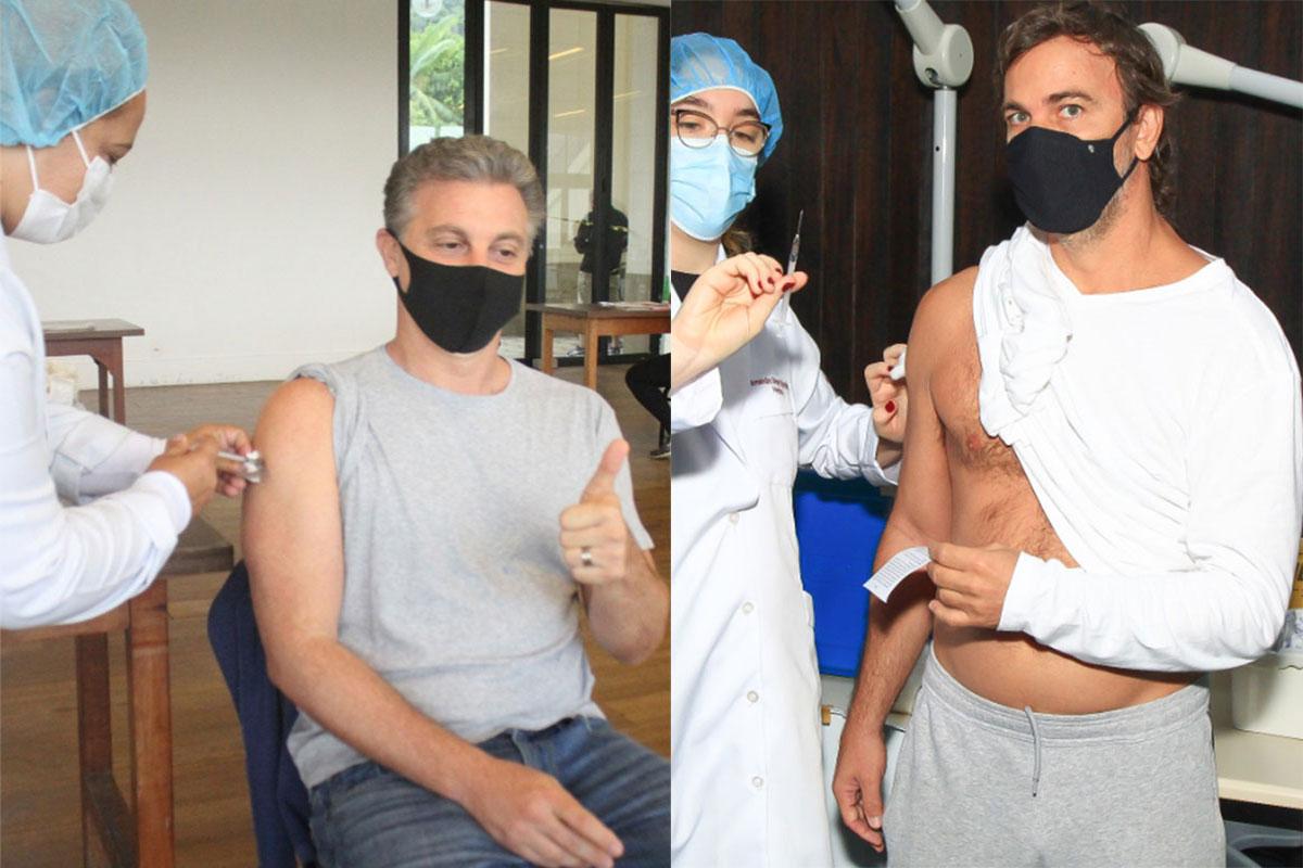 Luciano Huck e Marcelo faria são imunizados