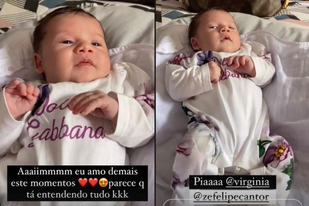Maria Alice, filha de Virginia Fonseca e Zé Felipe, usa look de R$ 4,5 mil