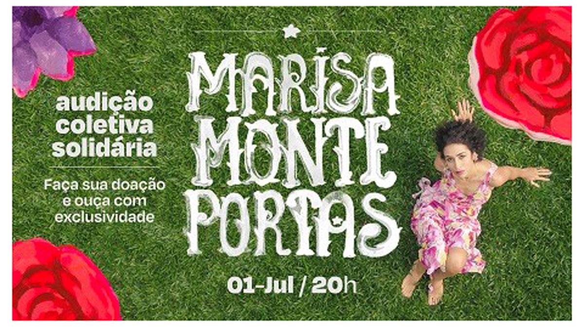 Banner da audição do novo disco de Marisa Monte