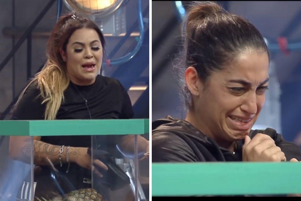 mari e dany choram durante prova