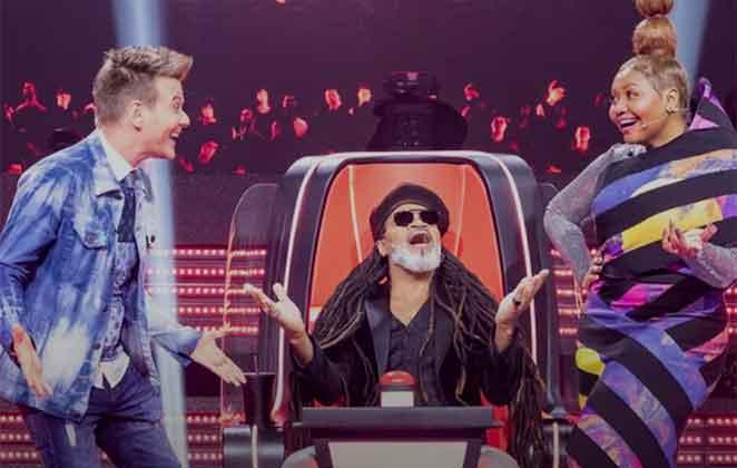 Michel Teló, Carlinhos Brown e Gaby Amarantos no júri do The Voice Kids