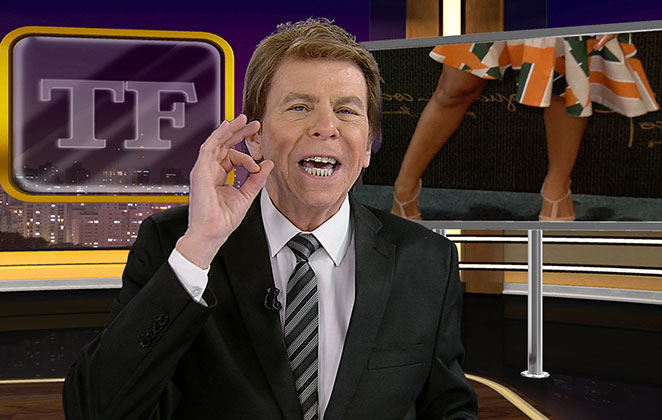 Nelson Rubens no palco do TV Fama