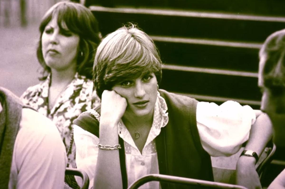 Retrato de Princesa Diana em trailer de documentário