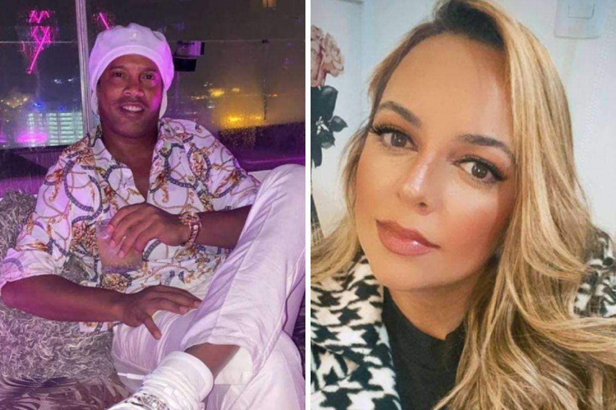 Ronaldinho Gaúcho e a ex Priscilla Coelho
