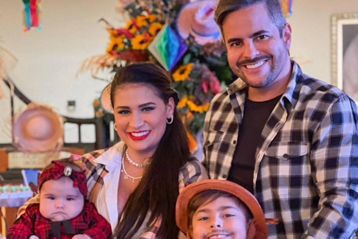 simone mendes em festa junina com família