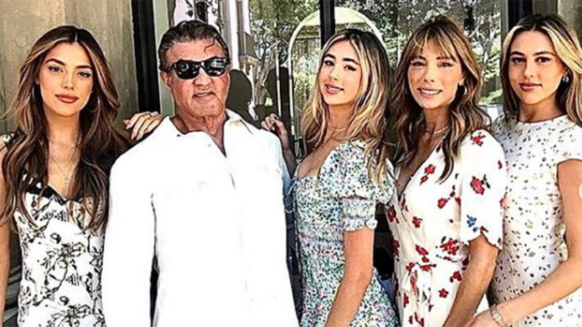 Sylvester Stallone com a família