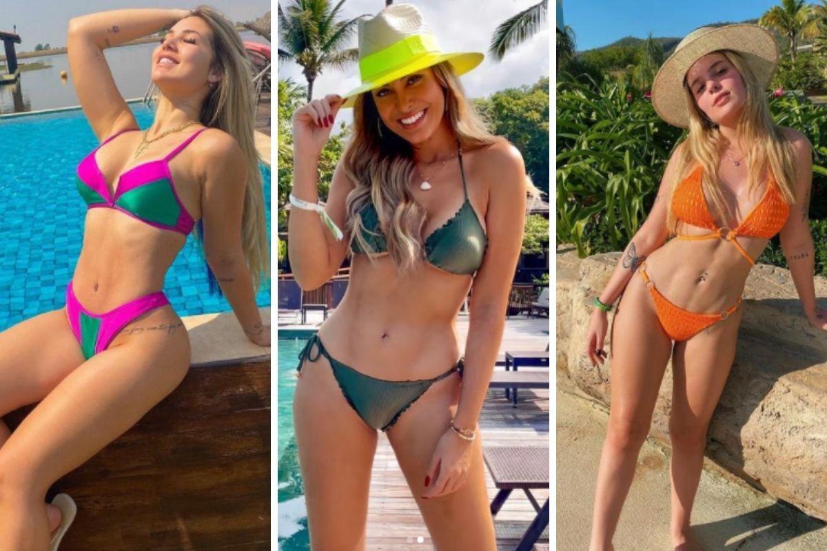 Virgínia Fonseca, Sarah Andrade e Viih Tube de biquíni