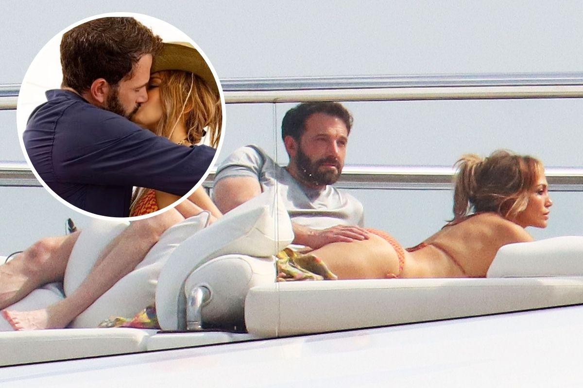Ben Affleck assume romance com Jennifer Lopez com beijo e apalpadinha no bumbum