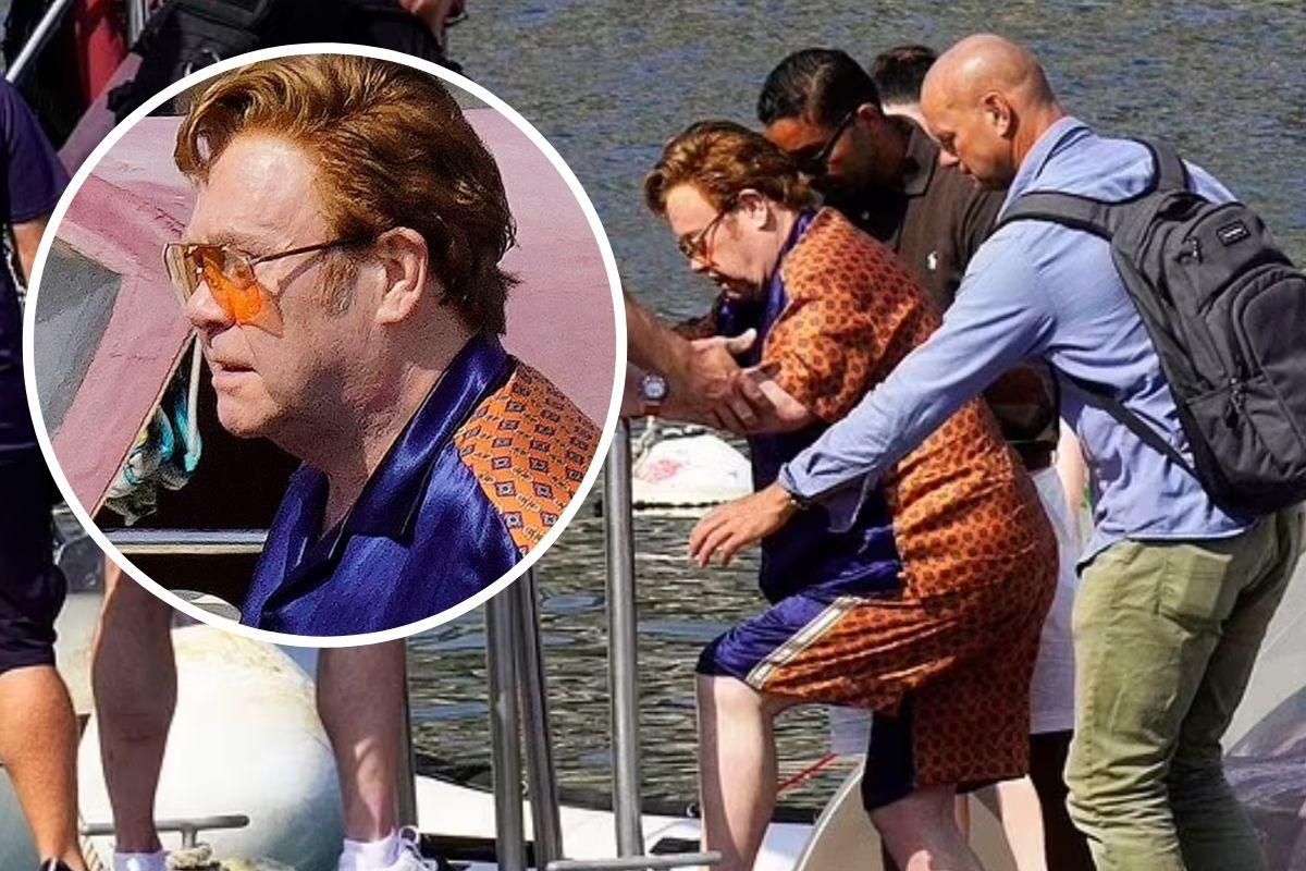 Elton John estreia cabelo ruivo em passeio de iate (5)