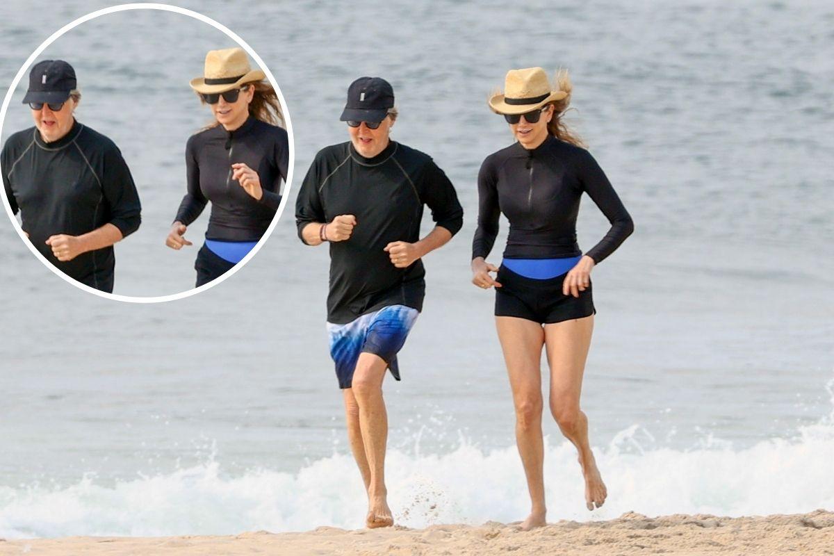 Paul-McCartney-corre-na-praia-com-sua-mulher-Nancy-1-1
