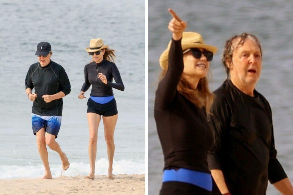 Paul-McCartney-corre-na-praia-com-sua-mulher-Nancy-3