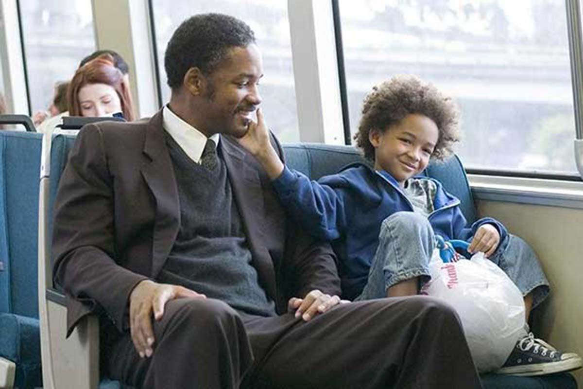 Will Smith e Jaden Smith em À Procura da Felicidade