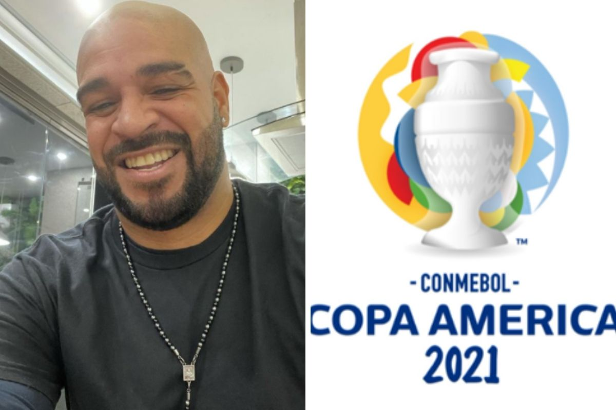 Adriano Imperador estará presente na cobertura da Copa América pelo SBT