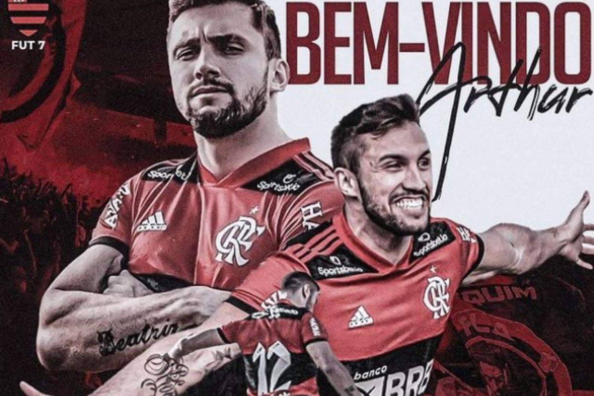 Anúncio de Arthur Picoli no Flamengo