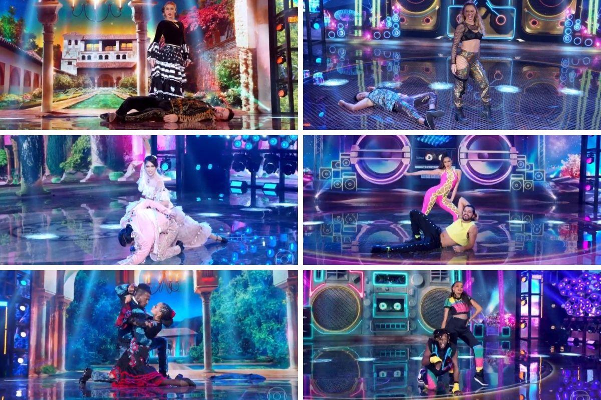 casais classificados super dança dos famosos montagem