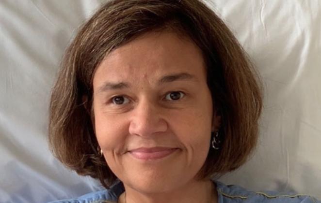 Claudia Rodrigues em hospital