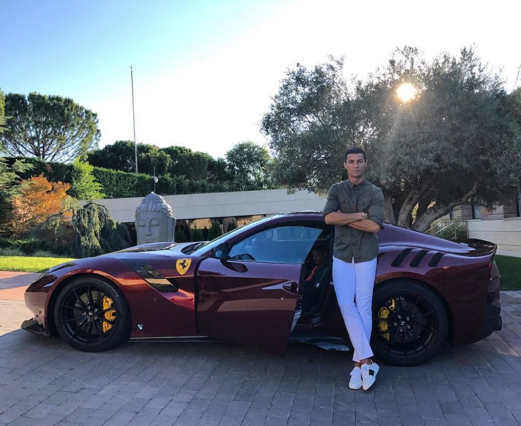 Cristiano Ronaldo e sua coleção de carros