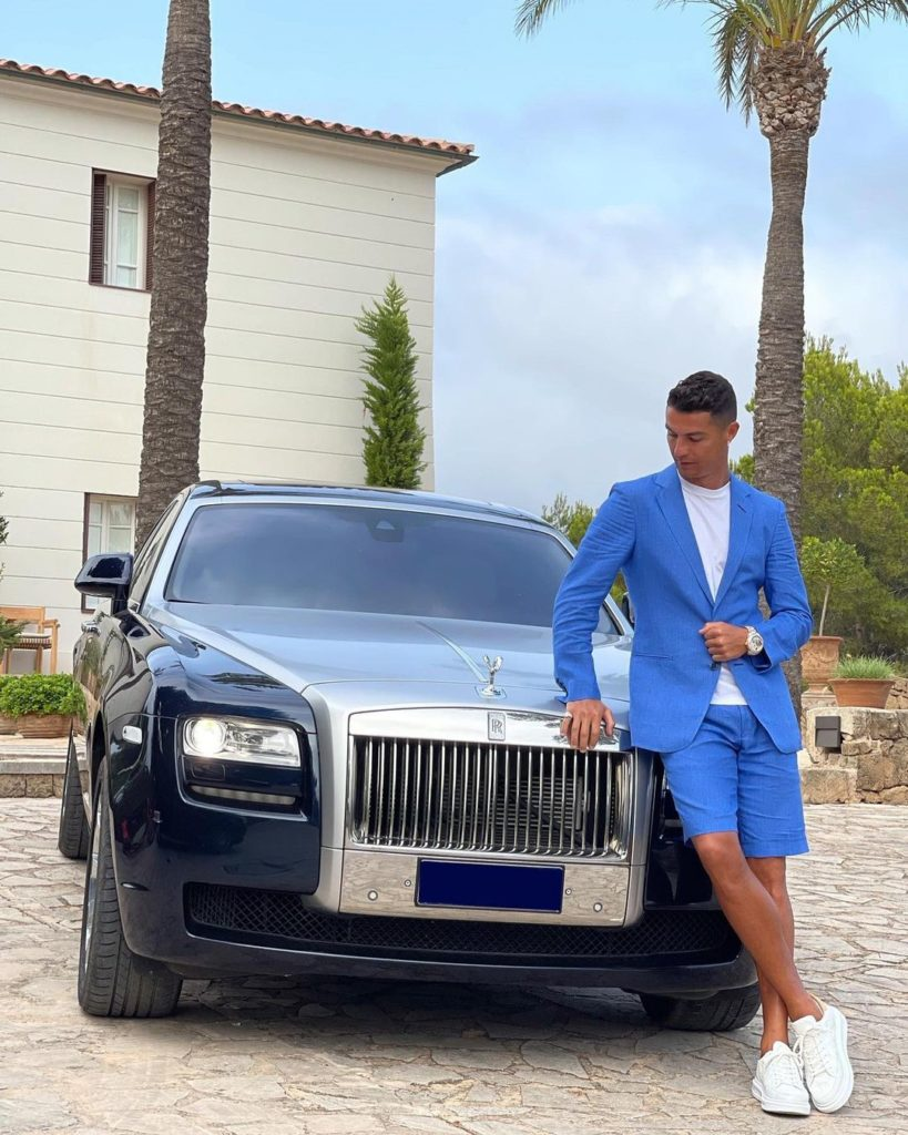 Cristiano Ronaldo e seu Rolls-Royce