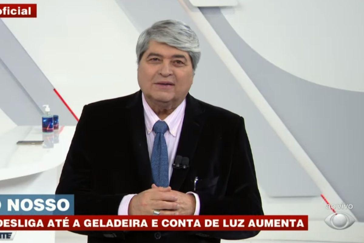 Datena apresentando o Brasil Urgente, da Band