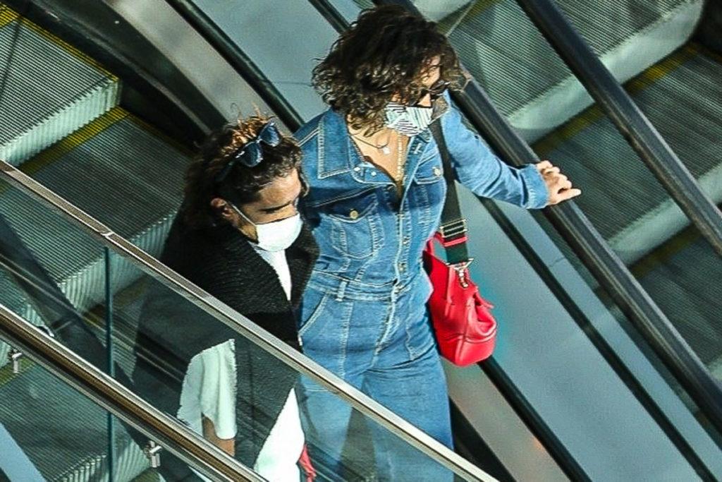Foi a primeira vez que Débora Nascimento e Marlon Teixeira foram fotografados em público