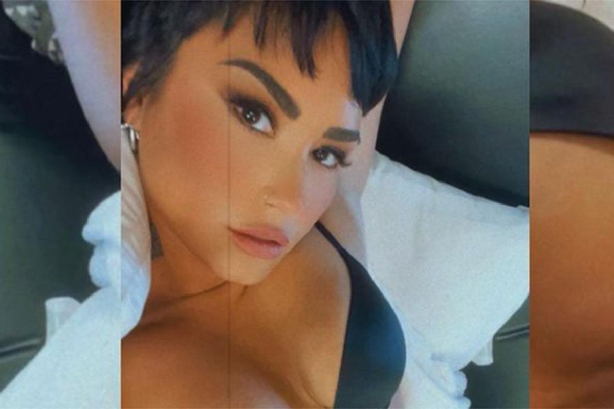 Demi Lovato sensualiza de lingerie